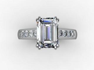 Certificated Emerald-Cut Diamond in Platinum - 9