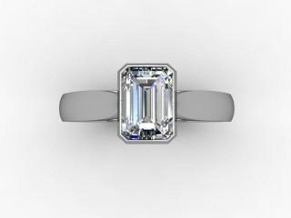 Certificated Emerald-Cut Diamond Solitaire Engagement Ring in Platinum - 9