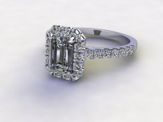 Certificated Emerald-Cut Diamond in Platinum-04-0100-8922