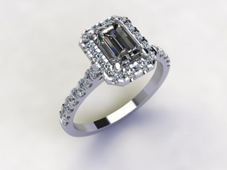 Certificated Emerald-Cut Diamond in Platinum - 12
