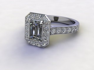 Certificated Emerald-Cut Diamond in Platinum-04-0100-8924