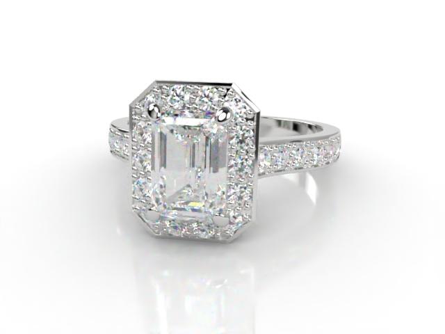 Certificated Emerald-Cut Diamond in Platinum