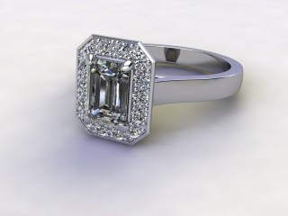 Certificated Emerald-Cut Diamond in Platinum-04-0100-8925