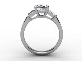 Certificated Emerald-Cut Diamond in Platinum - 3
