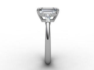 Certificated Emerald-Cut Diamond in Platinum - 6