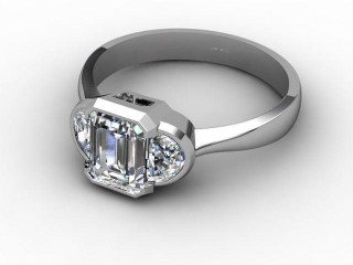 Certificated Emerald-Cut Diamond in Platinum-04-0102-6232
