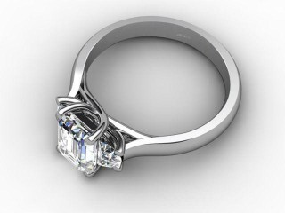 Certificated Emerald-Cut Diamond in Platinum - 3
