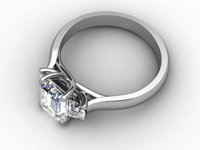 Certificated Emerald-Cut Diamond in Platinum - Main Picture