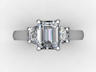 Certificated Emerald-Cut Diamond in Platinum - 12