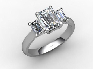 Certificated Emerald-Cut Diamond in Platinum-04-0102-6234