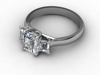 Certificated Emerald-Cut Diamond in Platinum - 15