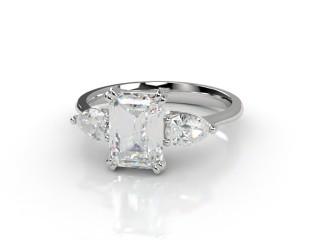 Trilogy Platinum Emerald-Cut & Pearshape Diamond-04-0133-0007