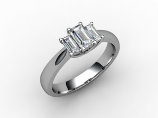 Trilogy Platinum Emerald-Cut Diamond - 15