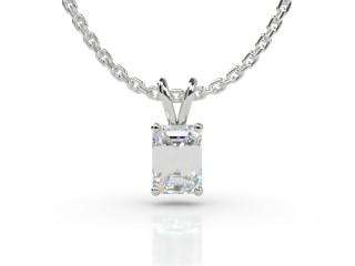 Certified Emerald-Cut Diamond Pendant -04-01911