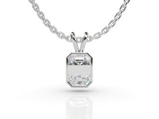 Certified Emerald-Cut Diamond Pendant -04-01912