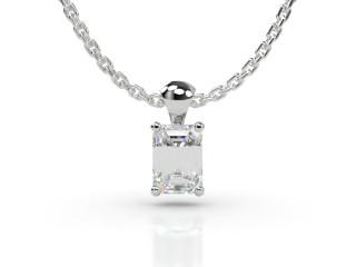 Certified Emerald-Cut Diamond Pendant -04-01913