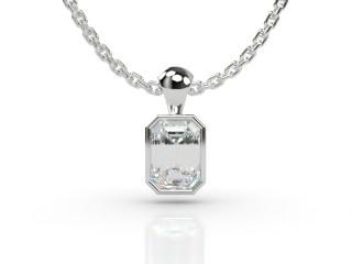 Certified Emerald-Cut Diamond Pendant -04-01914