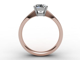 Certificated Emerald-Cut Diamond Solitaire Engagement Ring in 18ct. Rose Gold - 3