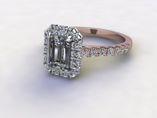 Certificated Emerald-Cut Diamond in 18ct. Rose Gold
