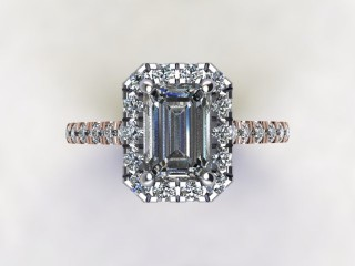 Certificated Emerald-Cut Diamond in 18ct. Rose Gold - 9