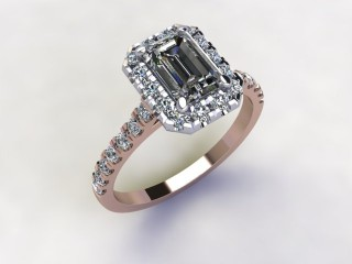 Certificated Emerald-Cut Diamond in 18ct. Rose Gold - 12