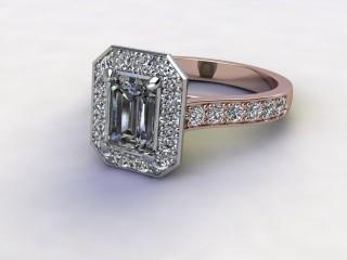 Certificated Emerald-Cut Diamond in 18ct. Rose Gold-04-0400-8924