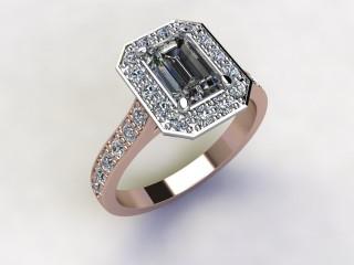 Certificated Emerald-Cut Diamond in 18ct. Rose Gold - 12