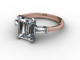 Certificated Emerald-Cut Diamond in 18ct. Rose Gold-04-0402-2911
