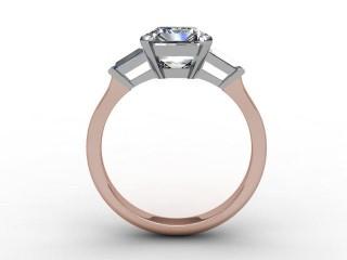 Certificated Emerald-Cut Diamond in 18ct. Rose Gold - 3