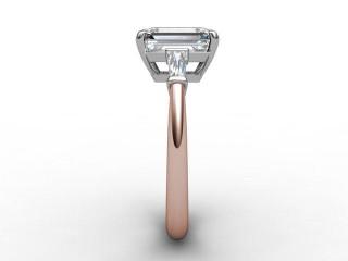 Certificated Emerald-Cut Diamond in 18ct. Rose Gold - 6