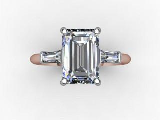 Certificated Emerald-Cut Diamond in 18ct. Rose Gold - 9
