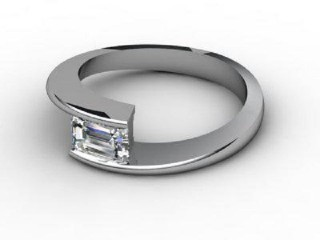 Certificated Emerald-Cut Diamond Solitaire Engagement Ring in 18ct. White Gold-04-0500-2248