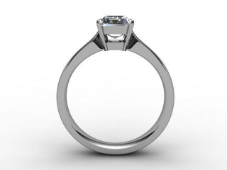 Certificated Emerald-Cut Diamond Solitaire Engagement Ring in 18ct. White Gold - 3