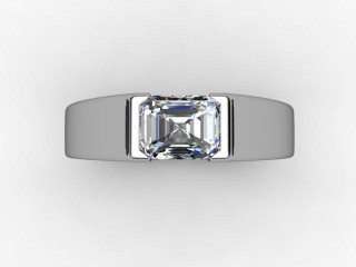 Certificated Emerald-Cut Diamond Solitaire Engagement Ring in 18ct. White Gold - 9