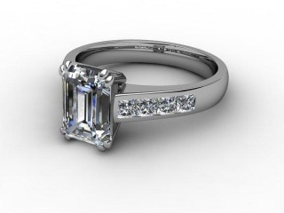 Certificated Emerald-Cut Diamond in 18ct. White Gold-04-0500-2950