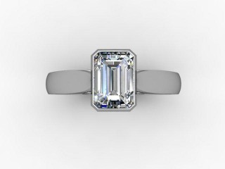 Certificated Emerald-Cut Diamond Solitaire Engagement Ring in 18ct. White Gold - 12