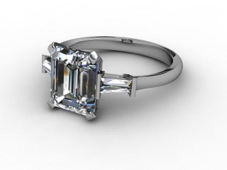 Certificated Emerald-Cut Diamond in 18ct. White Gold-04-0502-2911