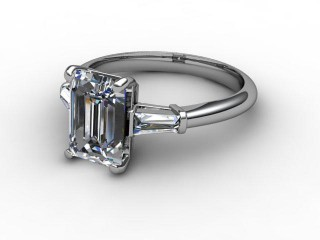 Certificated Emerald-Cut Diamond in 18ct. White Gold-04-0502-6162