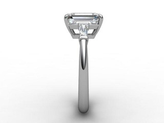 Certificated Emerald-Cut Diamond in 18ct. White Gold - 6