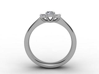 Trilogy 18ct. White Gold Emerald-Cut Diamond - 6