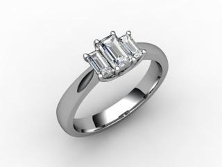 Trilogy 18ct. White Gold Emerald-Cut Diamond - 15