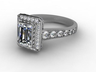 Certificated Emerald-Cut Diamond in 18ct. White Gold