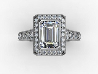 Certificated Emerald-Cut Diamond in 18ct. White Gold - 9