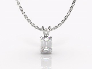 Certified Emerald-Cut Diamond Pendant-04-05911