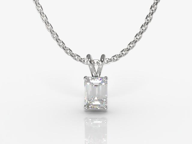 Certified Emerald-Cut Diamond Pendant