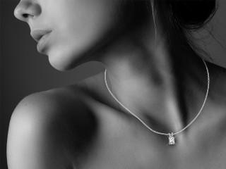 Certified Emerald-Cut Diamond Pendant - 12