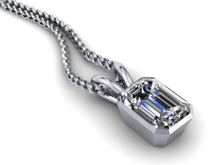 Certified Emerald-Cut Diamond Pendant-04-05912