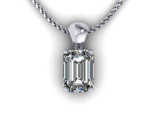 Certified Emerald-Cut Diamond Pendant - 9