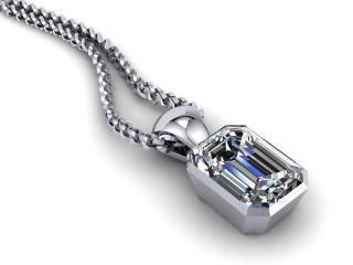 Certified Emerald-Cut Diamond Pendant-04-05914