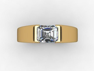 Certificated Emerald-Cut Diamond Solitaire Engagement Ring in 18ct. Yellow Gold - 9